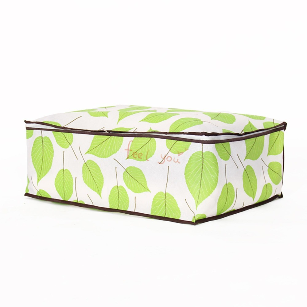 44* 26 *18 Green Leaf Pattern Non-woven Fabric Soft Cloth Suit Dust-proof Child Adult Clothes Cover Dress Storage Bag Garment(China (Mainland))