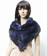 CX-S-106A Most Popular Hand Kniited Rex Rabbit Fur Latest Scarf Designs ~ DROP SHIPPING(China (Mainland))