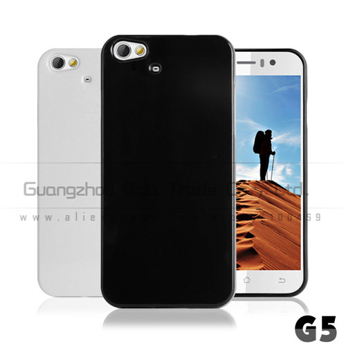 1pcs/lot Black and white TPU Case Cover for jiayu g5 G5S phone MTK6592 with free screen protetcor(China (Mainland))