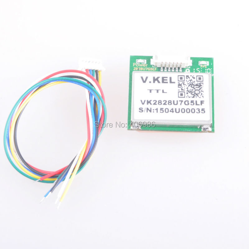 VK2828U7G5LF GPS Module with Antenna TTL 1-10Hz with FLASH Flight Control Model Aircraft(China (Mainland))