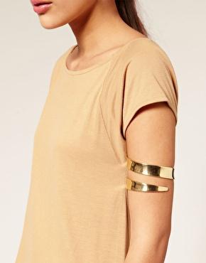 [Min. 6$] 2015 New Fashion Alloy Arm Cuff Bracelet Bangle Waistband Three Circle Rings Band Women Jewelry B2-308(China (Mainland))