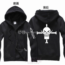 Free Shipping New Anime One Piece Clothing Fire Fist Ace Hooded Sweatshirt Cosplay Hoodie Costumes(China (Mainland))