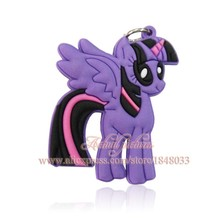 Fashion Party Kids Gifts 1PCS My little Ponies PVC Pendants Necklaces For Keychains Key Rings Travel Accessories(China (Mainland))