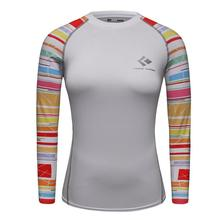 Buy Printed Raglan Long Sleeve Women T-shirts Compression Shirt Ladies Clothes Winter Cosplay Costume Female Clothing Top Fitness for $9.99 in AliExpress store