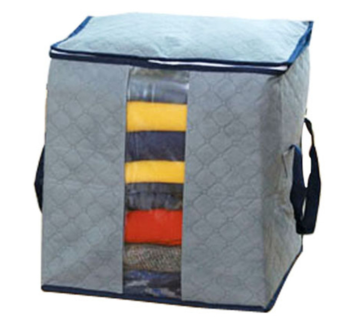 Free Shipping 2014 Fashion Eco-Friendly Bamboo Fibers Clothing Storage Bag Square Three-dimensional Type Storage Cases BT009(China (Mainland))