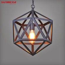 Buy Vintage Pendant Light Industrial Edison Lamp American Style Ancient Wrought Iron RH Loft Coffee Bar Restaurant bedroom Lights for $56.16 in AliExpress store
