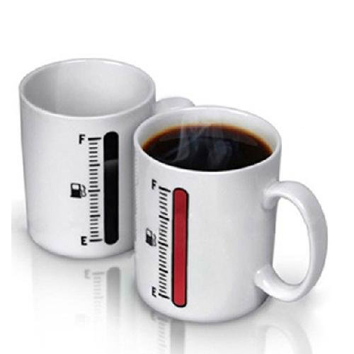 Promotion ! Heat Colour Change Mug Cup (Temperature meter)(China (Mainland))