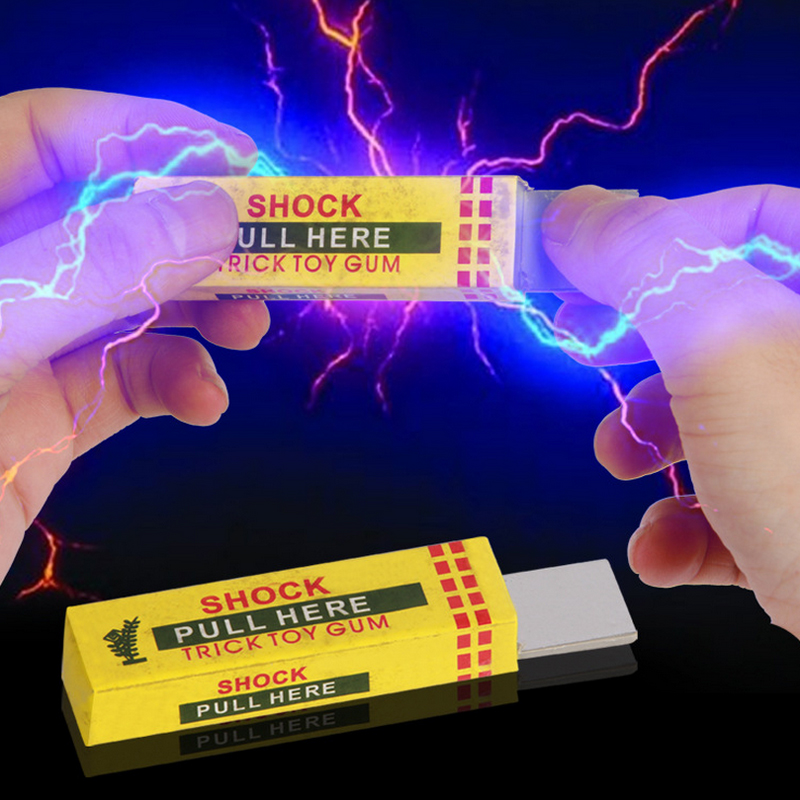 2016 Hot Jokes Electric Shock Chewing Gum Toy Pull Head Safety Trick Funny Toys Gags And Practical Jokes(China (Mainland))
