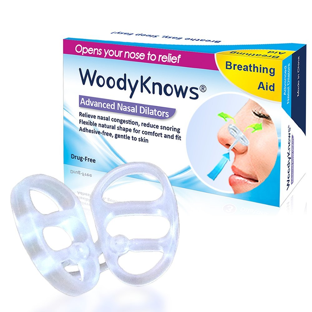 WoodyKnows Nasal Dilators(2nd Gen) Anti Snoring Solution Snore Stopper Sleep Apnea Breathe Right Strip Nose Clip Chin Strap CPAP(China (Mainland))