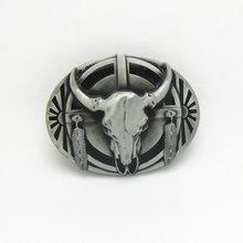 Buy Hot Sale Western Cowboy Bull Belt Buckles Metal Mens Belt Buckles Suitable 4cm Width Belt Drop for $5.98 in AliExpress store