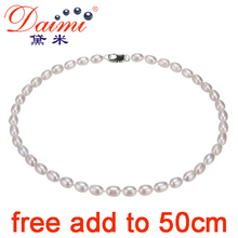 DAIMI Natural Pearl Necklace Simple & Casual Choker Necklace Small Rice Pearl For Everyday New Bijouterie Fine Jewelry(China (Mainland))