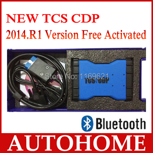 2PCS/LOT,Legal 2014 Quality A 2014.R1 Free Activated TCS CDP PRO Plus Diagnostic Too+BLUETOOTH+Box free dhl shipping(China (Mainland))