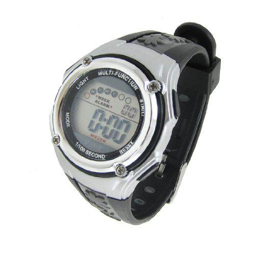 Здесь можно купить  10x( 2016 Children Black Adjustable Wristband Round Dial Alarm Stopwatch Sports Watch  Часы