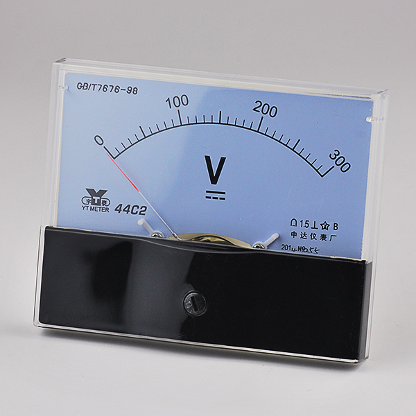 44C2 Model DC 300V Analog Voltmeter Voltage Meter Measure 0-300V DC Class 1.5 100*80*64mm with Screw for DIY New Free Shipping<br><br>Aliexpress