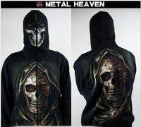 New brand.Free shipping.Prefect man Hoodies & Sweatshirts.human skeleton coat.hip-top.dance clothes