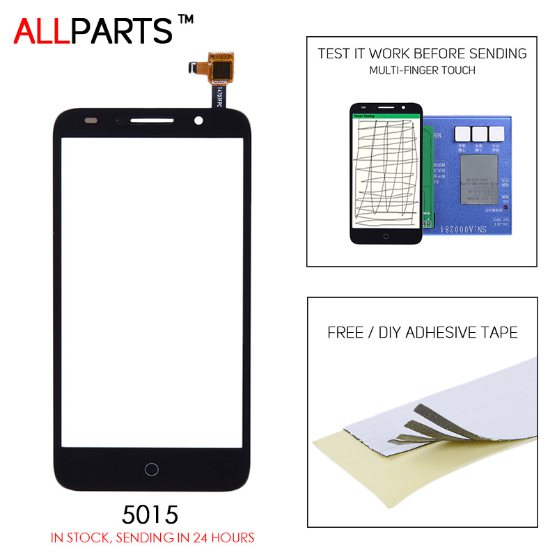 ALLPARTS Black White 5 inch Touch screen Alcatel One Touch Pop 3, 5 5015D Touch Screen Digitizer Pop3 Pixi 3 OT5015 5015 D