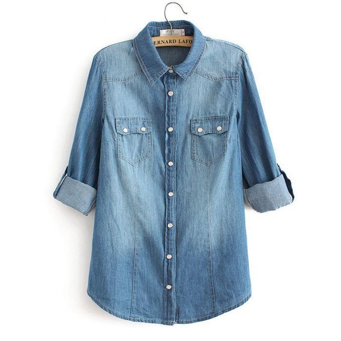 Spring 2008 women 39 s blouses peach chevron blouse for Denim shirt women old navy