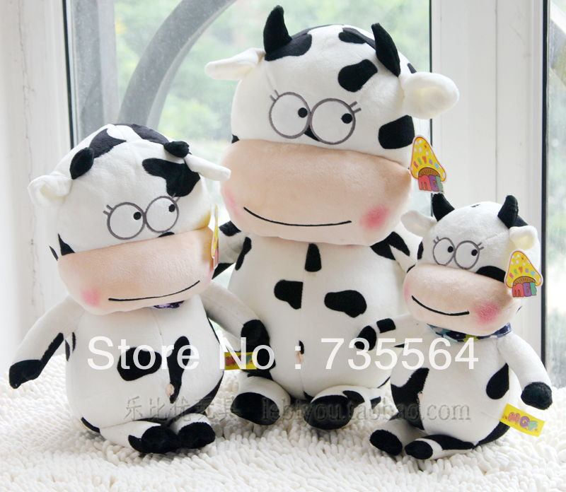 43 cm Sitting Size Plush Cow toy for birthday gift ,safe toy(China (Mainland))