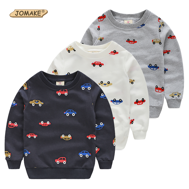 Spring Autumn Casual Baby Pullover Hoodies Boys Sweatshirts Cartoon Car Printing Children's Sweatshirt For Boy Kids Boys Clothes(China (Mainland))