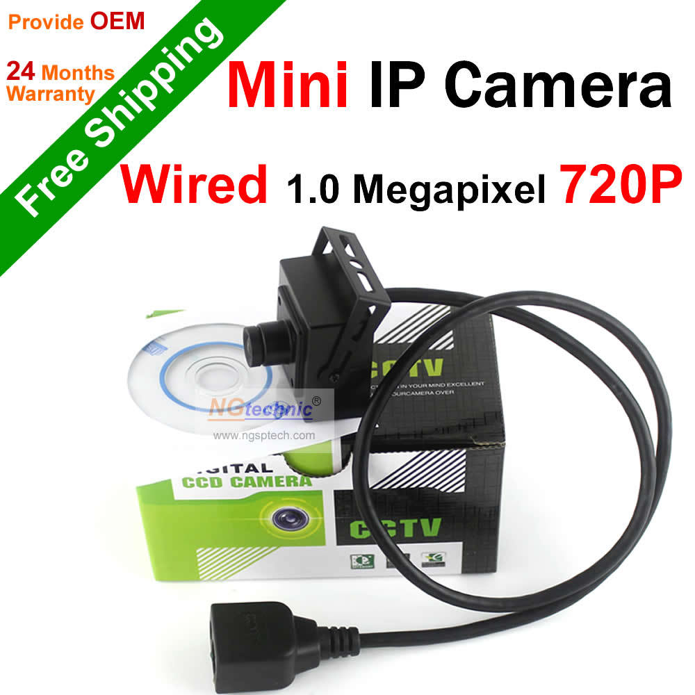 Free Shipping H.264 Wired 720P IP Camera Indoor Mini Network camera 1.0MP HD Onvif P2P motion detect security system IP camera(China (Mainland))