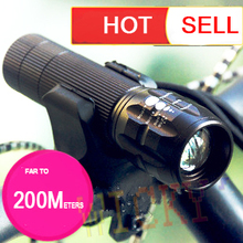 hotselling!! Bicycle LED Torch flash Light 18650/AAA 350 Lumens strobe zoomable CREE Q5 portable Waterproof fishing sport
