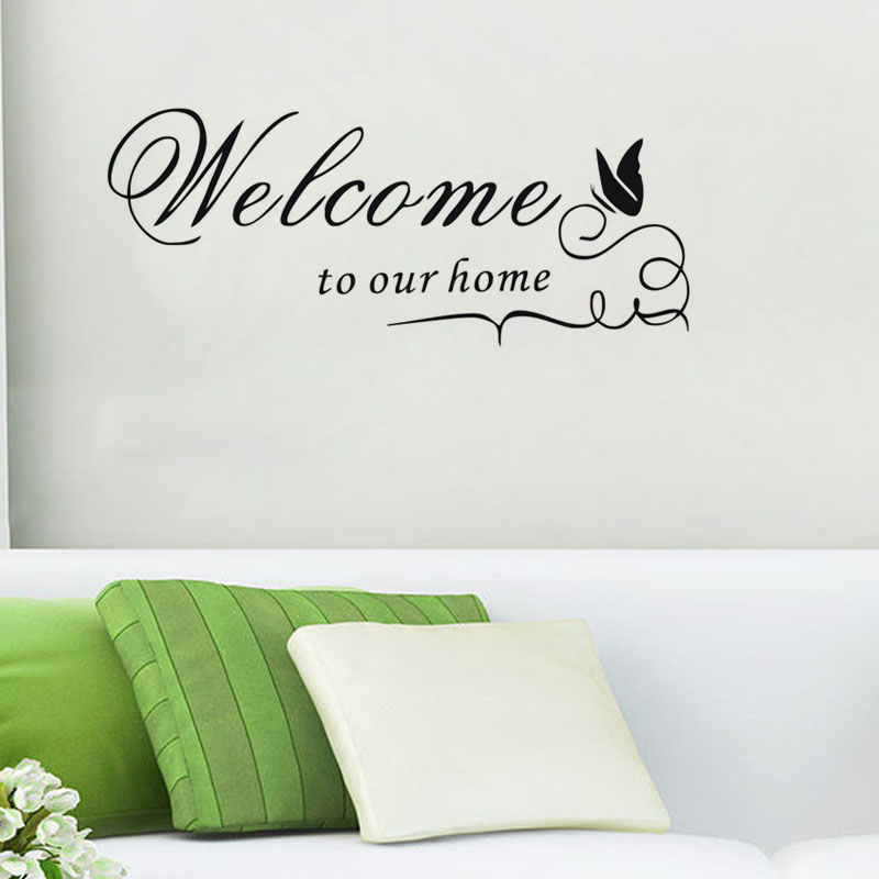 free shippingdiy wall decals welcome to our home quote