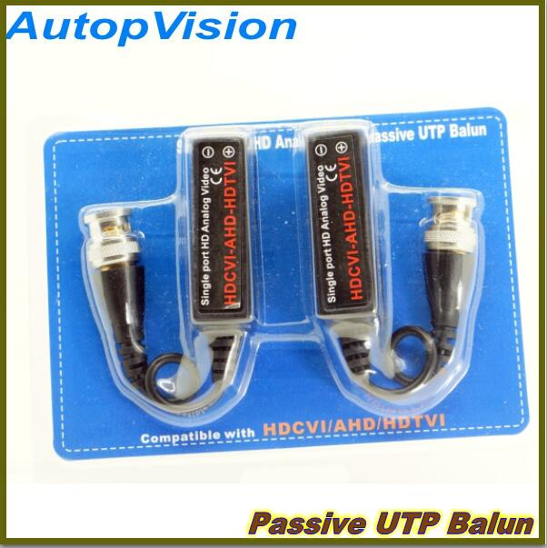 10pairs High Quality CCTV Via Twisted Pairs transmitter HD CVI/TVI/AHD Passive Video Balun Male Cable BNC to UTP Cat5e/6(China (Mainland))