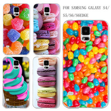 Phone Case Cover For Samsung Galaxy S4 S5 S6 S6edge Lovely Sweet Hot Dessert Ice Cream Macarons Fruits UV Print Hard Phone Cover
