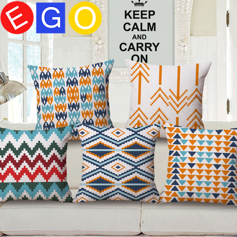 New hot <font><b>Bohemian</b></font> Ethnic style geometry cushions decorative linen cotton cushion covers for sofa throw pillows <font><b>home</b></font> <font><b>decor</b></font> bedroom