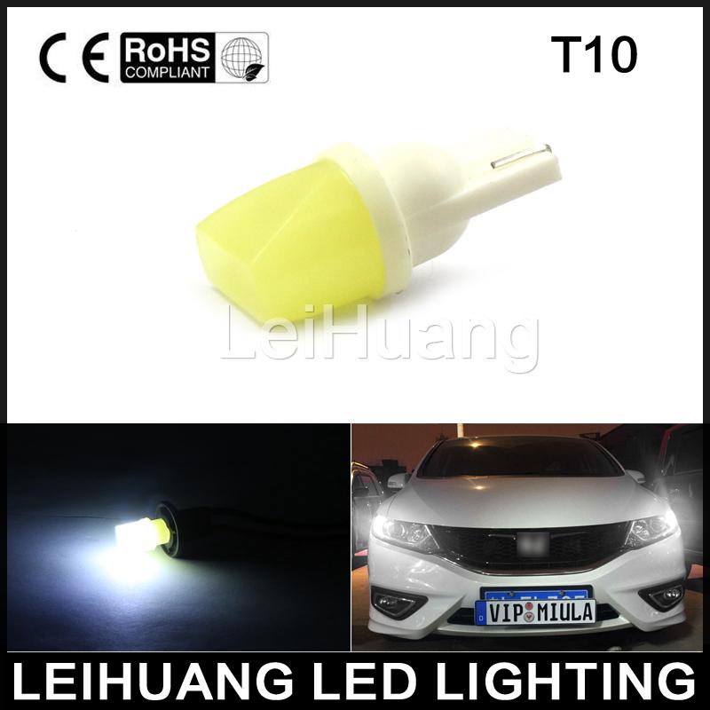 10pcs T10 3d LED W5W White Lights Car Side direction indicatorLicense plate light Door Map Festoon Dome Lamp Bulbs DC 12V(China (Mainland))