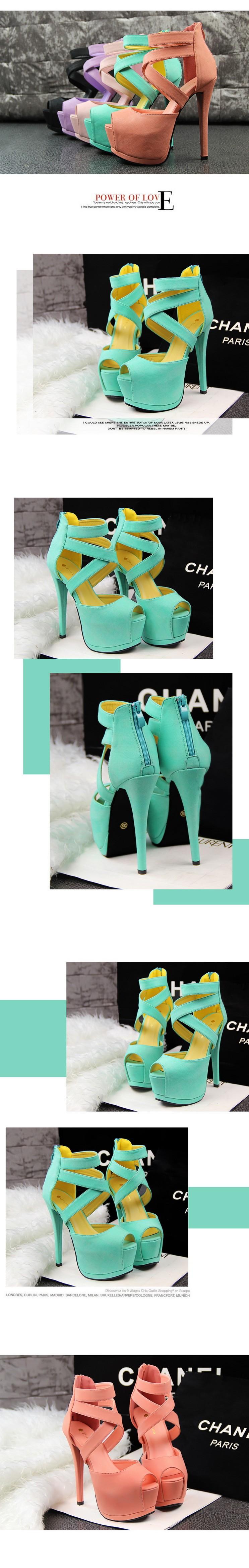 Roman Style Women High Heel Pumps Night Club Cross Strap Sexy Women Heels Platform Vintage Wedding Shoes Zapatos Tacon NX75