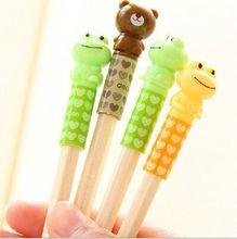 one piece kawaii Cartoon pencil cap  Protect nasal tip pen pencil case Z407