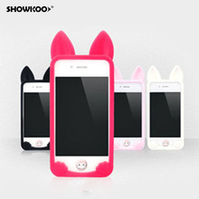 SHOWKOO koko cat 3d Cute Soft Silicone Case for iPhone 4 4s 5c 5 5s se 6 Rubber Phone Cases Covers Cell Phone Accessories