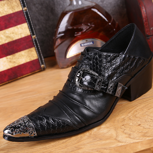 Spring Bullock pointed iron increased business casual shoes British hairstylist carved inside mens shoes breathable<br><br>Aliexpress