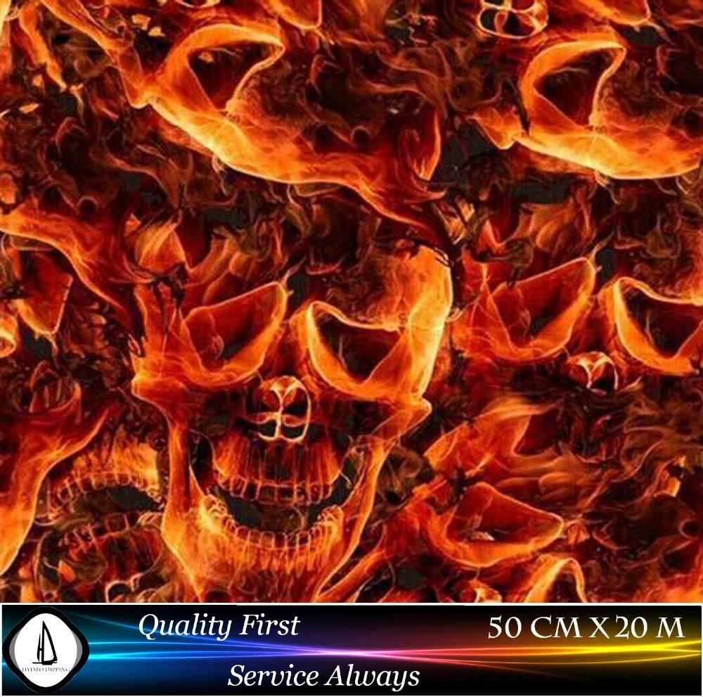 Hot Sale Hydrographic Film Transfer Skulls Design NO.8018 Width 0.5M Length 20M Hydrographics Water Transfer Printing Film(China (Mainland))