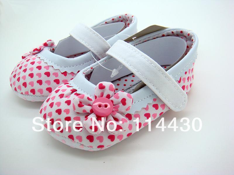 Ecmall -- mo042 # сзт младенцы гир lpink в форме сердца shap цветок сандалии малыша обувь для дома обувь размер 2 3 4 в сша