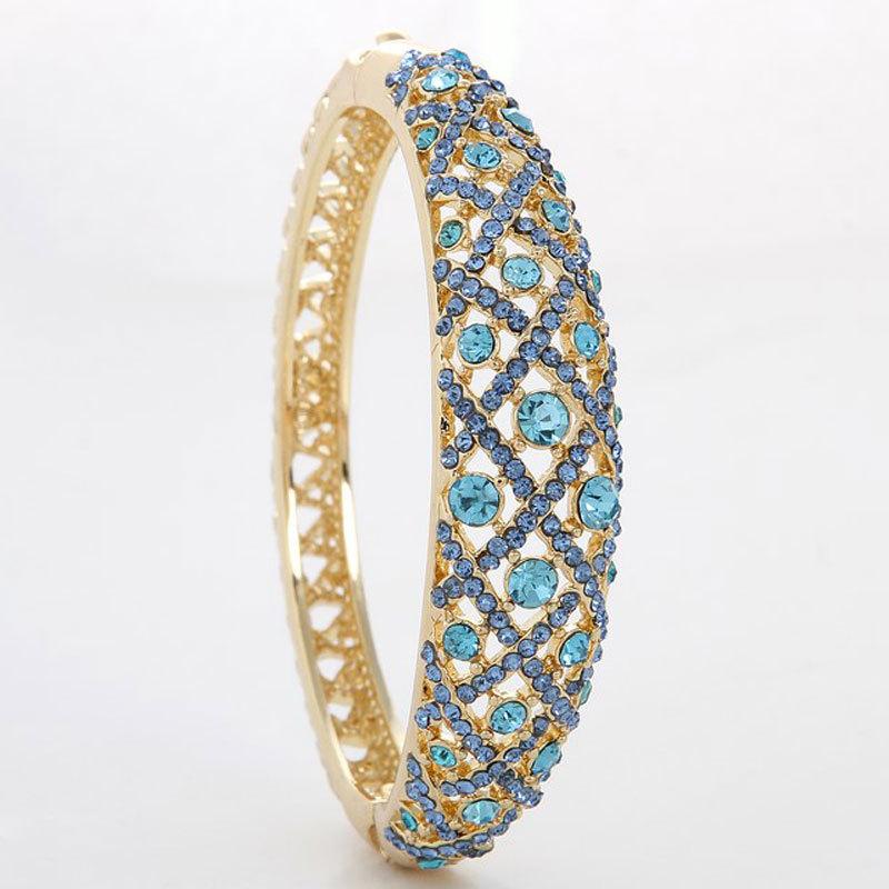 hot sale new arrival fashion bangles wholesale  zinc alloy Austrian crystals 18 k gold plated vintage women bracelets 66D-1560<br><br>Aliexpress