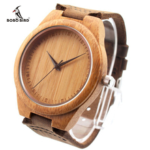 New Arrival Fashion Wood Watches Japanese Movement 2035 Bamboo Wooden Watches with Genuine Leather New Wood Products for Gifts