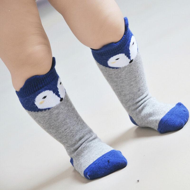 Cartoon Fox Cotton Baby Leg Warmers with Ears Kids Girl
