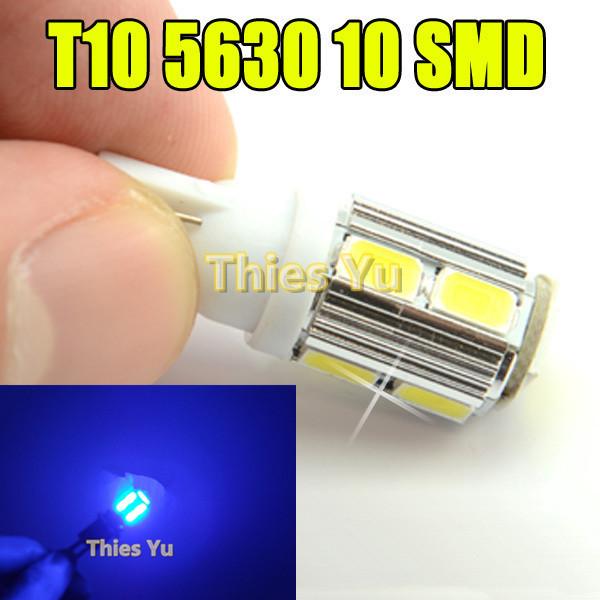 Super Bright T10 10 SMD LED 5630 Chip Car Bulbs Auto side marker Light Interior Lighting Aluminum Cover 100pcs(China (Mainland))