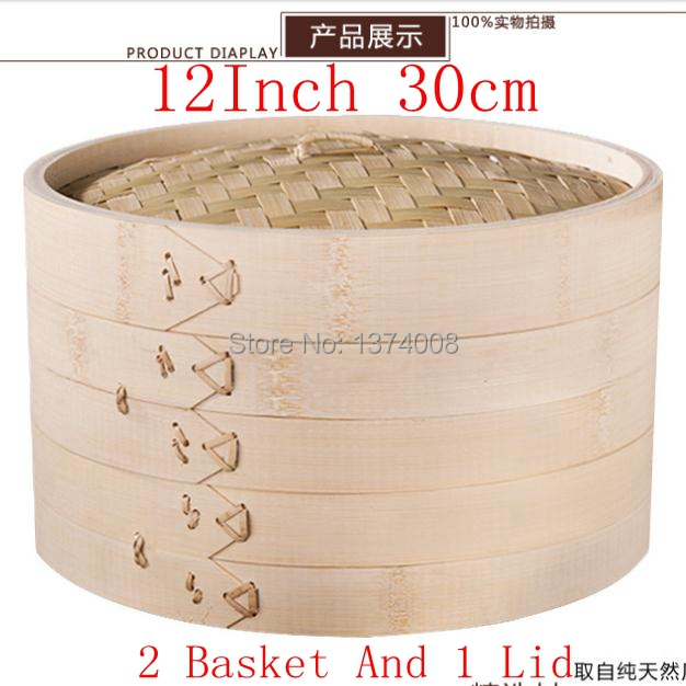 Корзина для фритюра 2015 new  Bamboo Steamer Set 12/30 2 1 2015 Diameter  12 Inch 30cm циркуль new 1 1 30 1cm 30cm