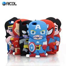 3D Superman Batman Ironman Spideman Captain America Silicone Case iPhone SE /4S / 5S 5C/6 6S 4.7 inch/ 6 Plus 5.5 inch - Aicol Electornics Co,.Ltd store