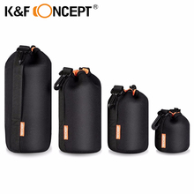 Buy K&F CONCEPT 4pcs Lens Pouch Bag Soft Lens Protector Neoprene Pouches S M L XL Size Canon Nikon Sony Camera Lens for $20.99 in AliExpress store