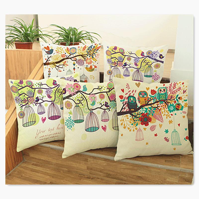 Cotton Linen Europe Vintage Pillow Cushion Rustic <font><b>Elegant</b></font> Car Pillowslip <font><b>Home</b></font> <font><b>Decoration</b></font> cusion