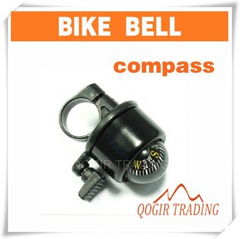 Bike Cycling Bicycle Ring Bell with Compass Ball Black 6028