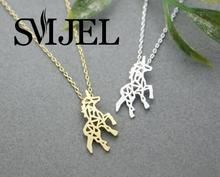 Buy SMJEL 2017 New Fashion Animal Unicorn Horse Pendant Necklace Women Minimalist Jewelry Neckilace Party Gift Girls N196 for $1.13 in AliExpress store