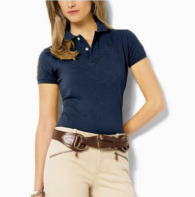 2015 Classic Fashion Lady Polo short sleeve Shirts cotton big logo brand Lady Polo Shirts solid shirt for sports and work(China (Mainland))