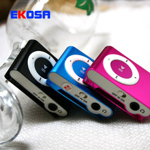 10 Pcs High Quality Mini metal Clip MP3 Player With TF Card Slot Without Accessories No Card No Cable Wholesale Free Shipping