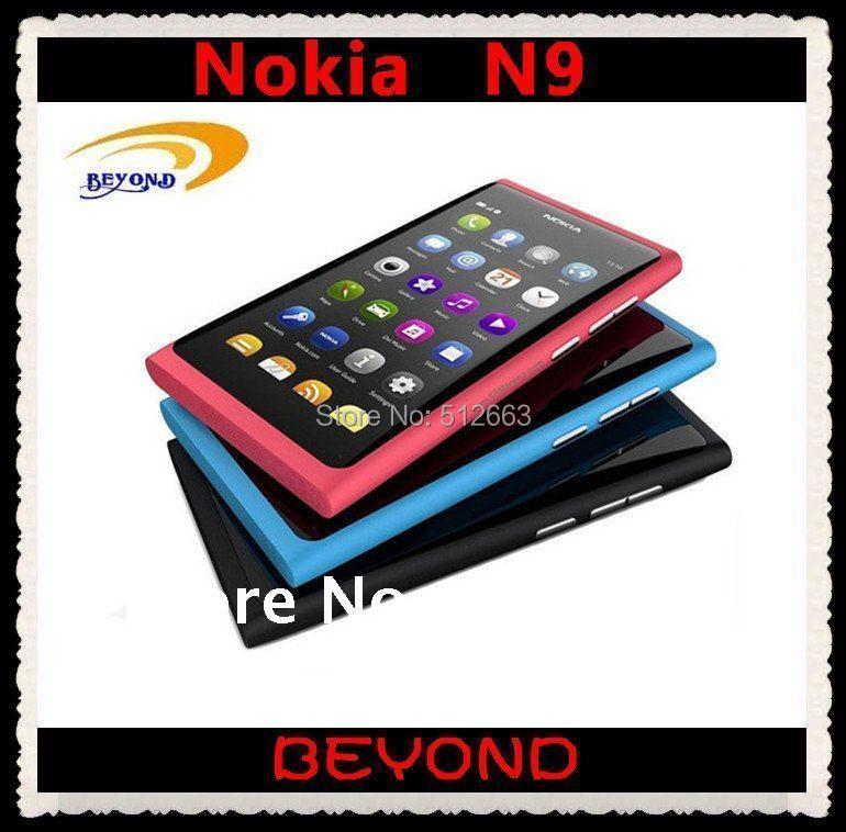 100% original Nokia N9 Unlocked Mobile Phone N9-00 Nokia Lankku WIFI GPS 8MP 3G GSM MeeGo OS 16GB free shipping(China (Mainland))