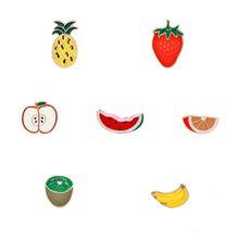 4-7 pz/set Cartoon Spilla Spille Dello Smalto Sveglio Animale di Frutta Pera Gelato Risvolto Spille Delle Donne Del Collare Della Ragazza Spilli distintivi e Simboli per i vestiti(China)